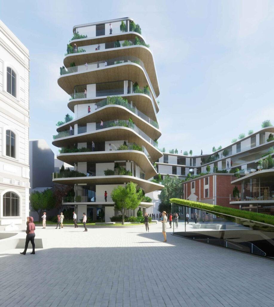 Esquisse Projet Montefiore - Architecture contemporaine Liége