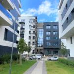 Vue allées extérieures immeuble en construction résident Maison de repos et de soins Recital Merl-Luxembourg - SIA.Architects